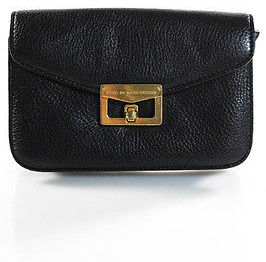Marc By Marc JacobsMarc By Marc Jacobs Black Leather Crossbody Shoulder Handbag Size Small