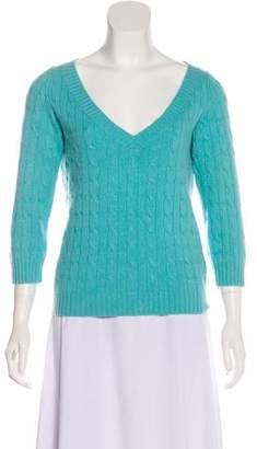 Ralph Lauren Black Label Cashmere Metallic Sweater