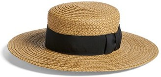 Women's Eric Javits 'Gondolier' Boater Hat - Beige $375 thestylecure.com