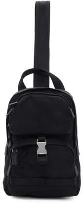Prada Black Nylon Mountain Messenger Bag