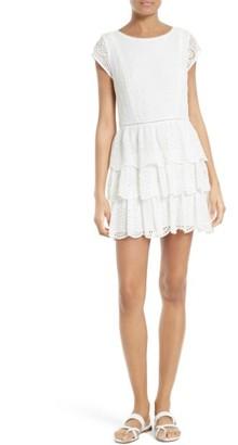 Women's Joie Altha Eyelet Silk Dress $428 thestylecure.com