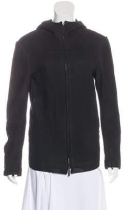 Giorgio Armani Lamb Suede Jacket Black Lamb Suede Jacket