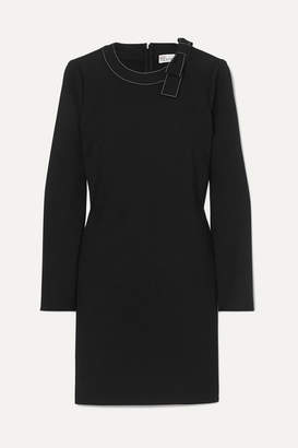 RED Valentino Bow-embellished Crepe Mini Dress - Black