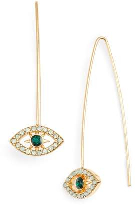 Rebecca Minkoff Celestial Evil Eye Threader Earrings