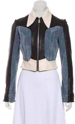 Rodarte Cropped Leather Jacket