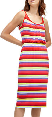 Warehouse Stripe Tie Shoulder Dress, Multi