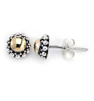 Samuel B Jewelry Sterling Silver & 18K Yellow Gold Stud Earrings