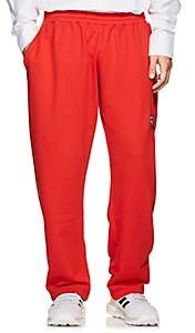 Gosha Rubchinskiy Men's Embroidered Cotton Terry Sweatpants - Red