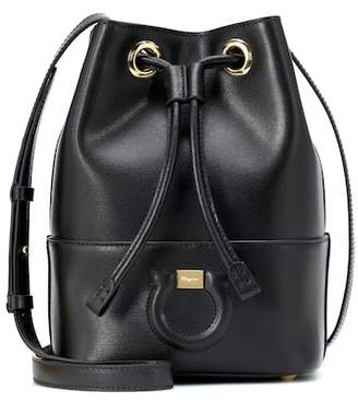 Salvatore Ferragamo City leather bucket bag