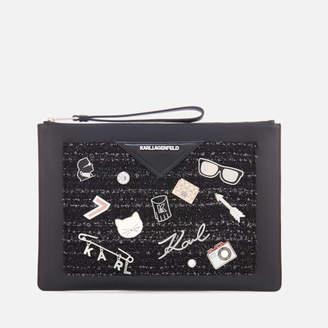 Karl Lagerfeld Women's K/Klassik Pins Pouch - Black