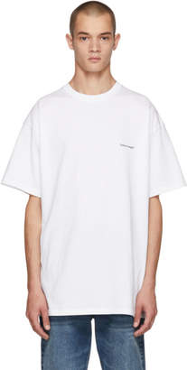 Balenciaga White Small Logo T-Shirt