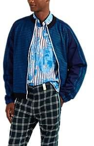 Marni Men's Checked Jersey Track Jacket - Blue
