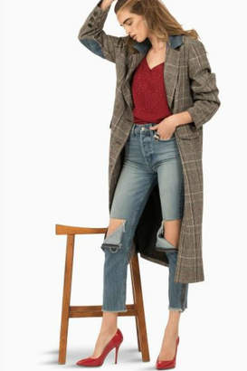 Siwy Plaid Trench Coat