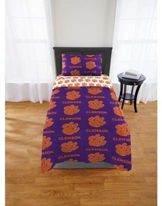 NCAA Clemson Tigers Twin Bed in a Bag Set