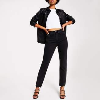 River Island Womens Black wash straight leg denim jeans