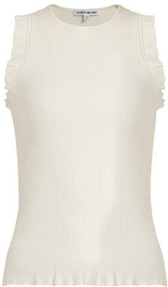 Elizabeth and James Clementine Ribbed Knit Tank Top - Womens - Cream