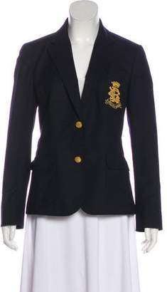 Ralph Lauren Wool Notch-Lapel Blazer