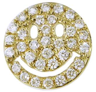 Sydney Evan Pavé Diamond Happy Face Stud Earring