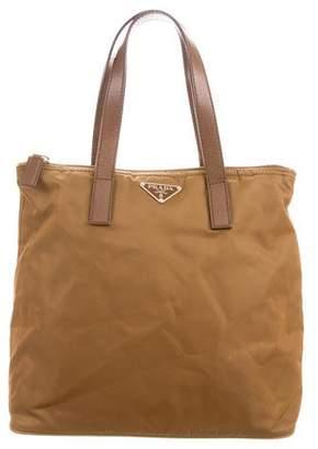 Prada Vela Leather-Trimmed Bag