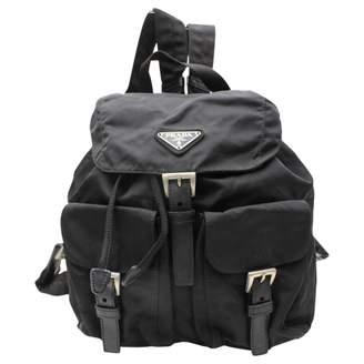 Prada Vintage Black Cloth Backpacks
