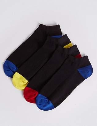 Marks and Spencer 4 Pack Cool & FreshfeetTM Trainer Liner Socks