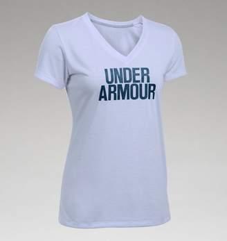 Under Armour UA Womens Threadborne Train Wordmark V-Neck - Twist