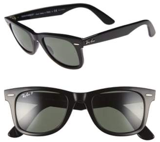 Ray-Ban 'Classic Wayfarer' 50mm Polarized Sunglasses