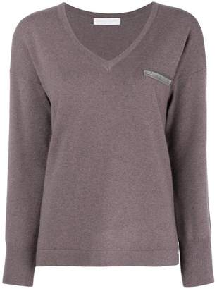 Fabiana Filippi embellished V-neck sweater
