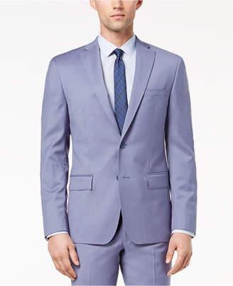DKNY Closeout! Men's Modern-Fit Stretch Blue Suit Jacket