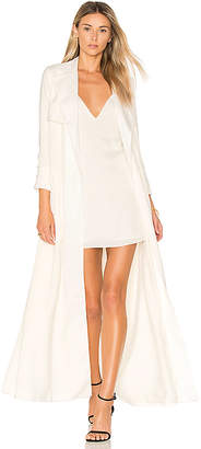 Lovers + Friends x REVOLVE Late Evening Trench in Ivory $210 thestylecure.com