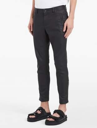 Calvin Klein matte waxed denim biker jeans