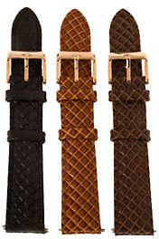 Bronze 18mm Set of 3 Leather Watch Straps by Bronzo Italia