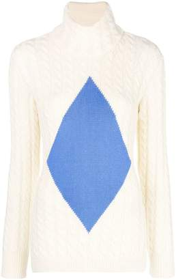 Tory Burch cable knit diamond sweater
