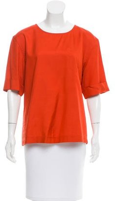 Marc by Marc Jacobs Silk Short Sleeve Top w/ Tags $75 thestylecure.com