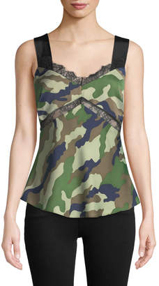 KENDALL + KYLIE Camouflage Tie-Back Camisole