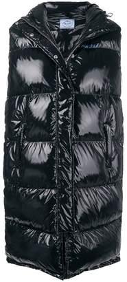 Prada long puffer vest