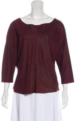 Humanoid Leather Bateau Neck Top