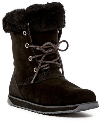 EMU Australia Shaw Lo Genuine Sheep Fur Lace-Up Boot $189.95 thestylecure.com