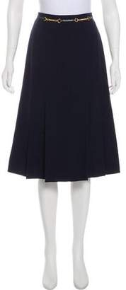 Celine Wool Pleated Skirt
