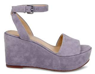 Splendid Women's Felix Suede Ankle Strap Platform Wedge Sandals