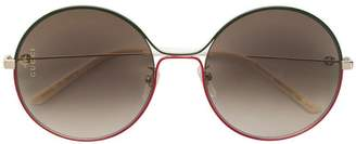 Gucci round metal sunglasses