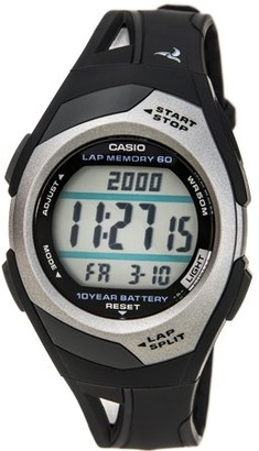 Casio STR300C-1V Womens Dual Time 60-Lap Digital Running Watch w/10 Year Battery