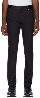 Balmain Black Satin Band Trousers