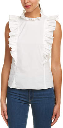 Rebecca Taylor Sleeveless Pop Pleat Shirt