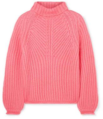 Stine Goya Nicholas Ribbed Mohair-blend Turtleneck Sweater - Bubblegum