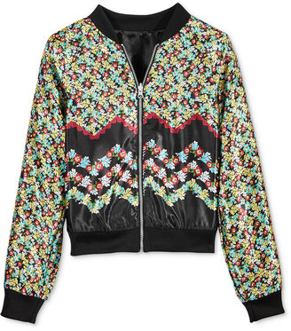 Tinsey Reversible Bomber Jacket, Big Girls (7-16) $46 thestylecure.com