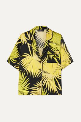 De La Vali Kid Printed Satin Shirt - Green