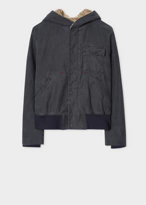 Paul Smith Men's Washed Grey Denim Red Ear Jacket