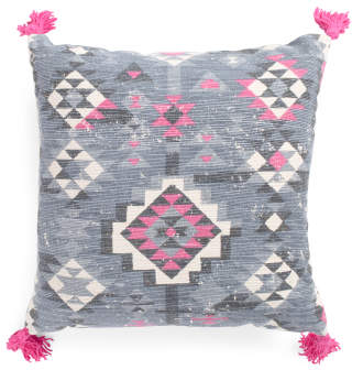 Made In India 20×20 Kilim Print Pillow