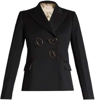 Iona peak-lapel wool-blend jacket